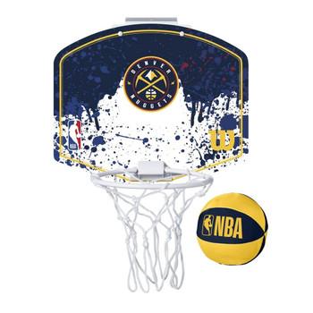WILSON denver nuggets NBA mini team hoop set [blue/white]