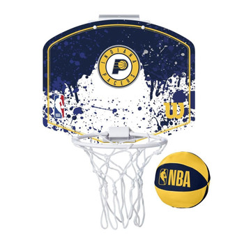 WILSON indiana pacers NBA mini team hoop set [blue/white]