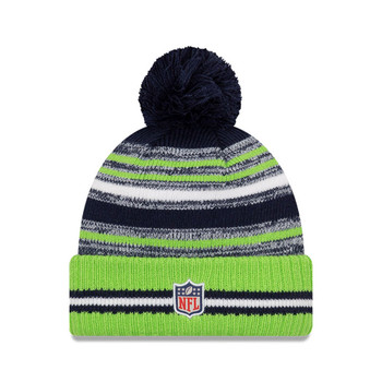 NEW ERA Seattle Seahawks NFL sideline sport knit bobble hat [green/navy]