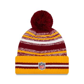 NEW ERA Washington sideline sport knit bobble hat [yellow/brown]