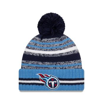 NEW ERA Tennessee Titans NFL sideline sport knit bobble hat [blue]
