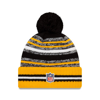 NEW ERA Pittsburgh Steelers NFL sideline sport knit bobble hat [yellow/black]