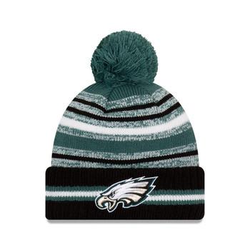 NEW ERA Philadelphia Eagles NFL sideline sport knit bobble hat [teal/black]