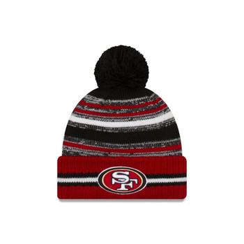 NEW ERA San Francisco 49ers NFL sideline sport knit bobble hat [red]