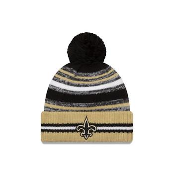 NEW ERA New Orleans Saints NFL sideline sport knit bobble hat [gold/black]