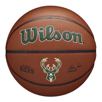 WILSON Team Alliance NBA Basketball milwaukee bucks [brown]