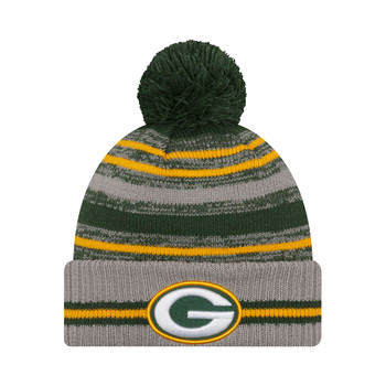 NEW ERA Green Bay Packers NFL sideline sport knit bobble hat [green/grey]