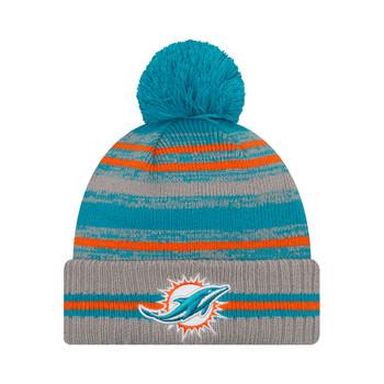 NEW ERA Miami Dolphins NFL sideline sport knit bobble hat [aqua/grey]