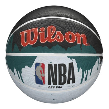 WILSON NBA DRV pro drip basketball - size 7 [white/black/green]