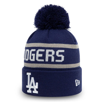 NEW ERA LA Dodgers blue stripe cuff Bobble beanie hat [Blue/white]