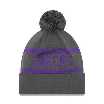 NEW ERA LA Lakers Bobble Beanie hat [grey]