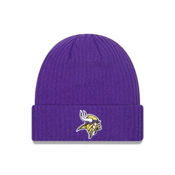 NEW ERA Minnesota Vikings Team Flag cuff beanie hat [purple]