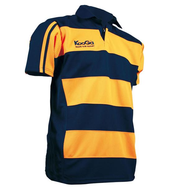 KOOGA teamwear hooped match shirt [yellow/navy]