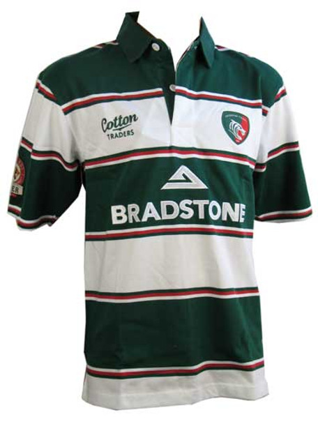 COTTON TRADERS leicester home ss kids rugby shirt