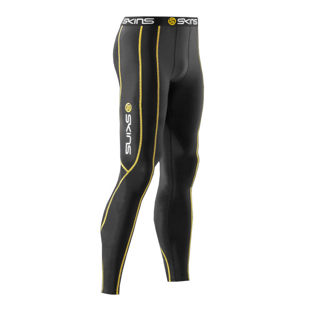 SKINS compression long sport tights / leggings [black]