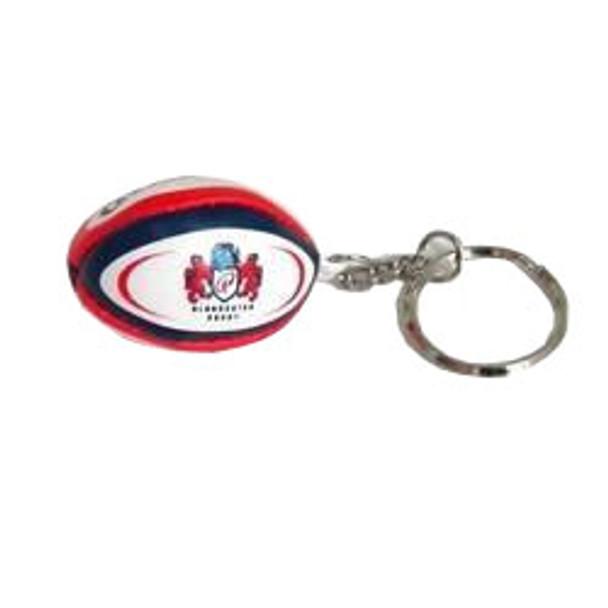 GILBERT gloucester rugby ball key ring