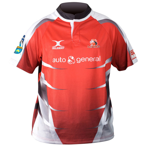 GILBERT Lions Home SupeRugby Rugby Shirt [red] RRP £65!