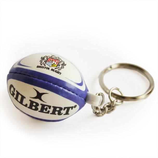 GILBERT bristol rugby ball key ring