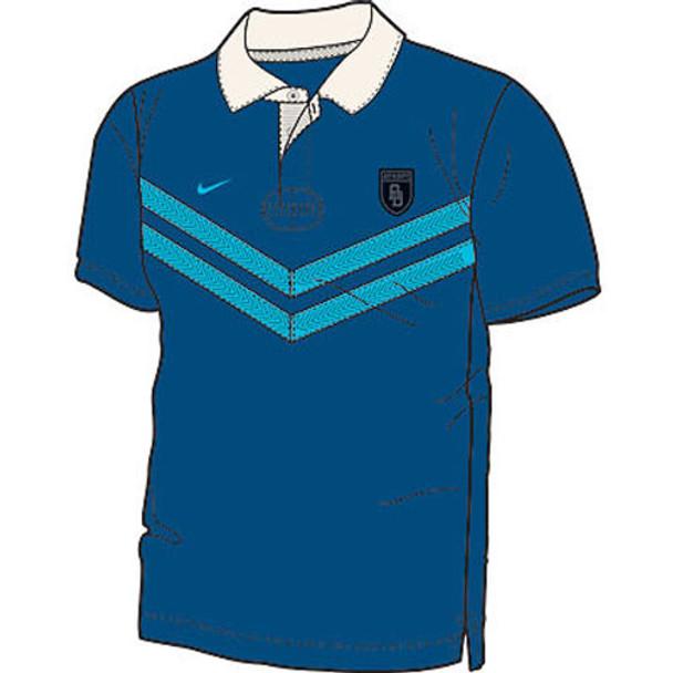 NIKE AD Striker Casual Short Sleeve Rugby Shirt [blue]