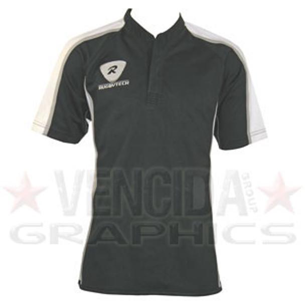 RUGBYTECH teamwear rugby match shirt [black/white]