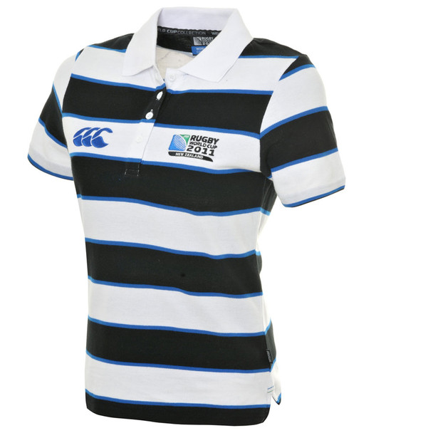 CCC Rugby World Cup 2011 Women's Hoop Stripe Polo Shirt