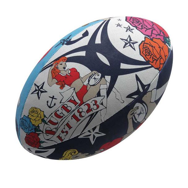 GILBERT tattoo rugby ball