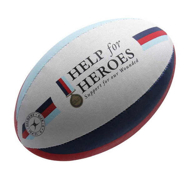 GILBERT Help for Heros rugby ball