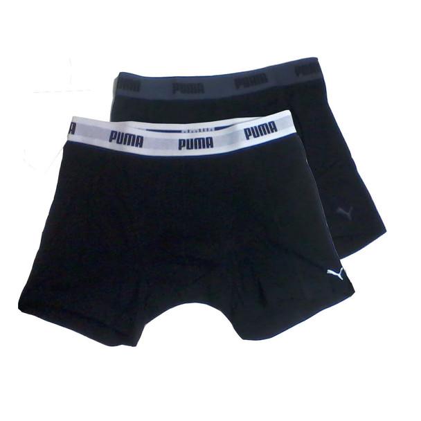 PUMA Men's Underwear Black 2pk Boxers-Small