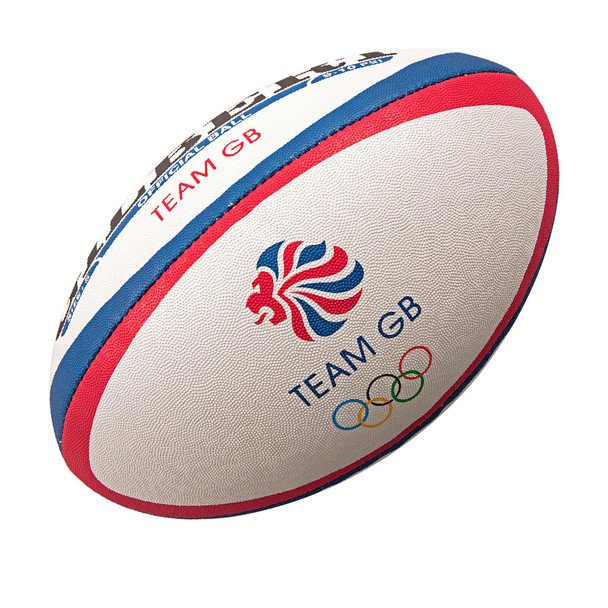 GILBERT team GB official olympic rugby ball [red/blue]