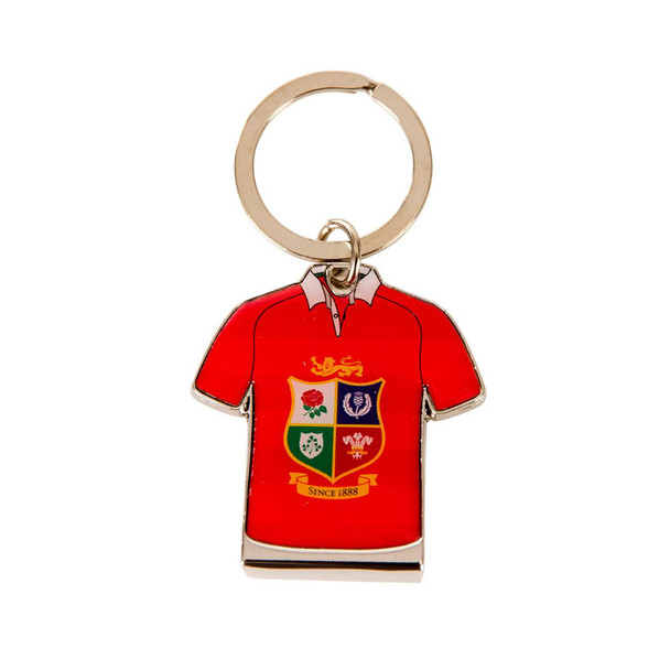 British & Irish Lions Rugby Jersey Bottle Opener Key Ring [red]