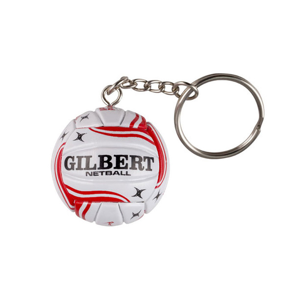 GILBERT England netball keyring [red]