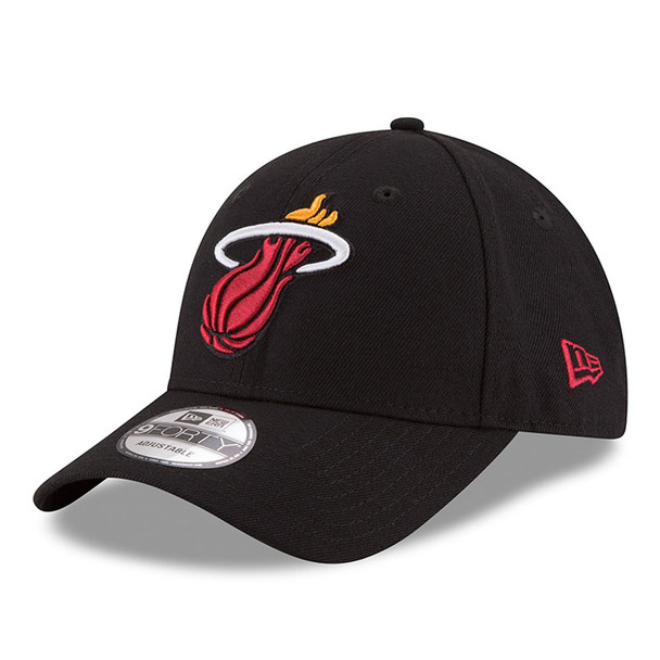 NEW ERA miami heat 9forty adjustable NBA basketball league cap [black]