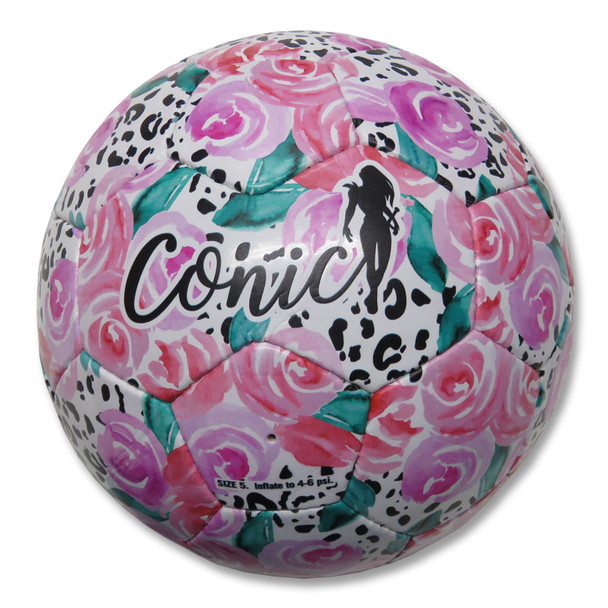 CONIC Soccer ball spirit size 5 [white/floral]