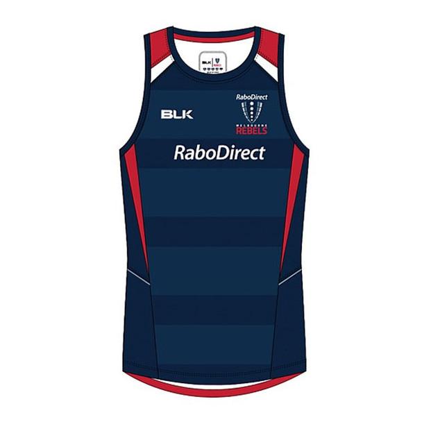 BLK melbourne rebels rugby training singlet
