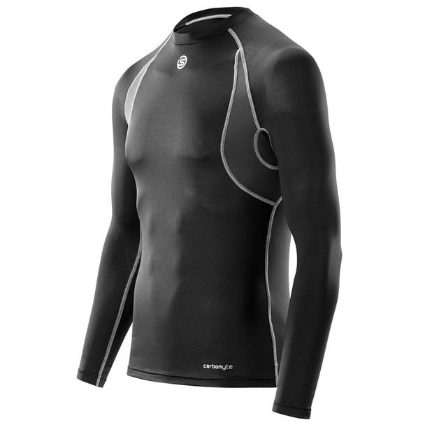 SKINS Men's Carbonyte Long Sleeve Baselayer Top [Black]