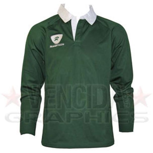 RUGBYTECH london irish kids long sleeve rugby shirt [green]