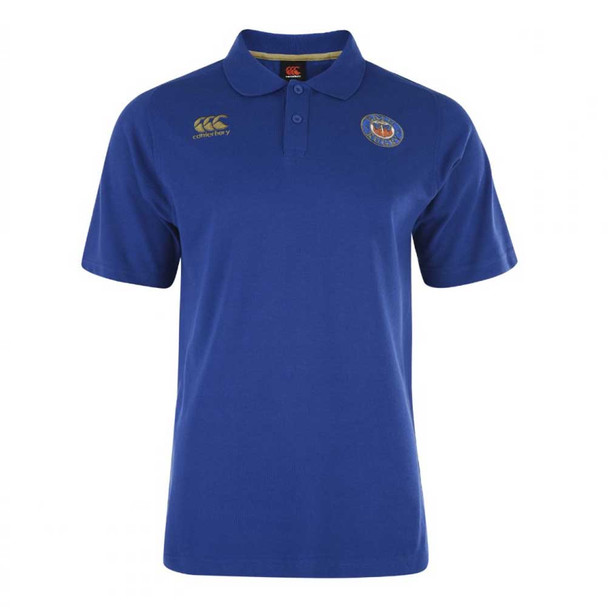 CCC Bath Rugby Cotton Training Polo Shirt [blue]