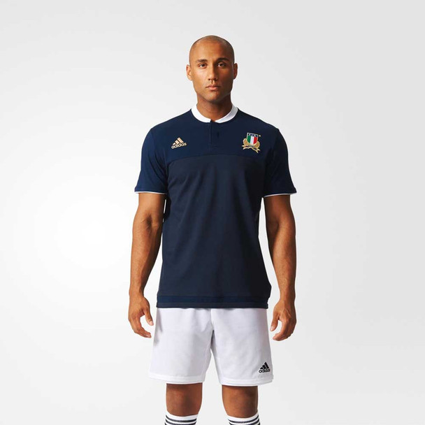 ADIDAS Italy Rugby Anthem Polo Shirt [navy]