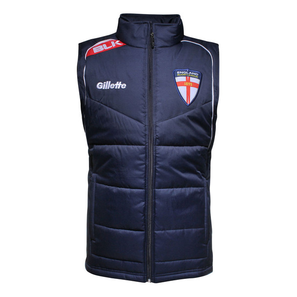 BLK england RFL rugby players winter gilet [navy]