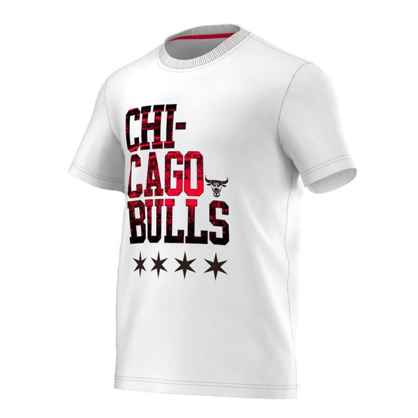 ADIDAS chicago bulls NBA basketball graphic team t-shirt [white]