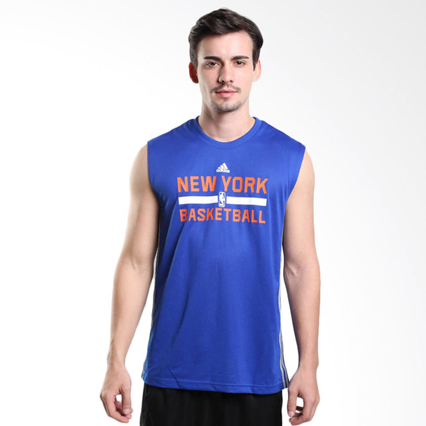 ADIDAS NBA New York Knicks Basketball Reversible tank [blue/grey]