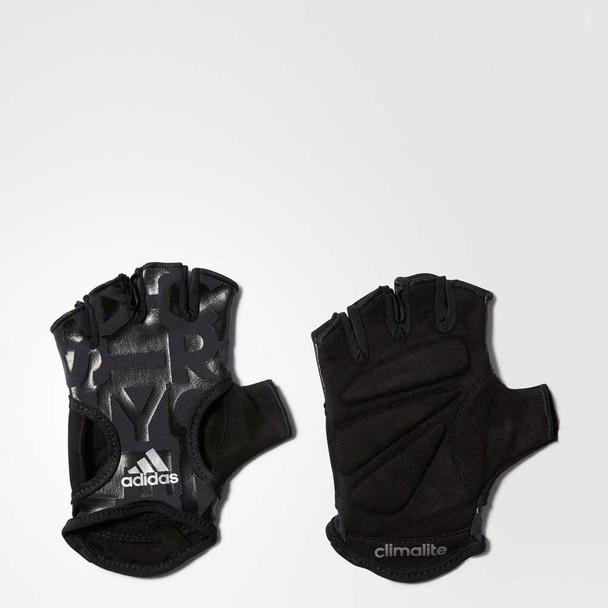 ADIDAS climalite womens graphic training gloves [black]