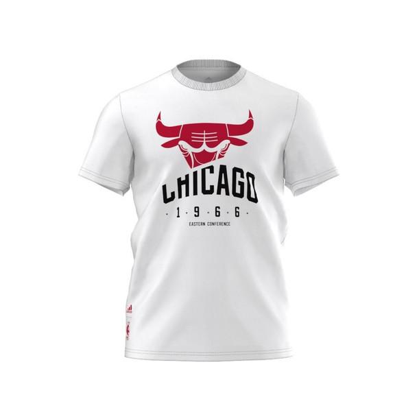 ADIDAS chicago bulls NBA basketball basics t-shirt [white]