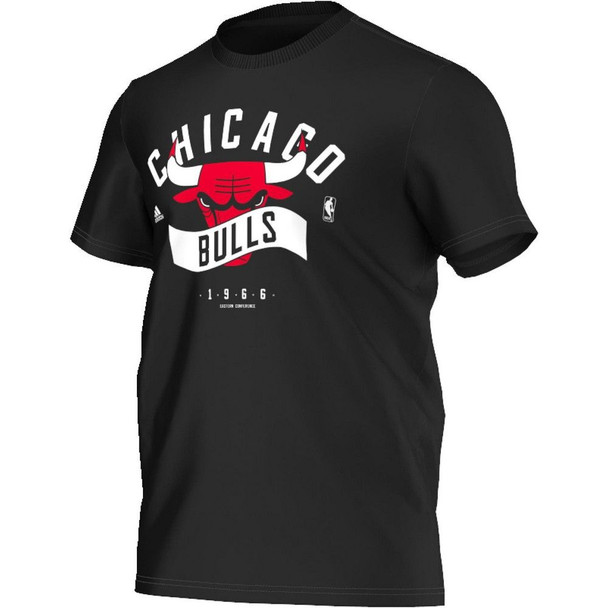 ADIDAS chicago bulls NBA basketball basics t-shirt [black]