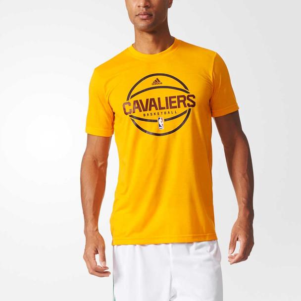 ADIDAS cleveland cavaliers basketball summer run shooter t-shirt [yellow]
