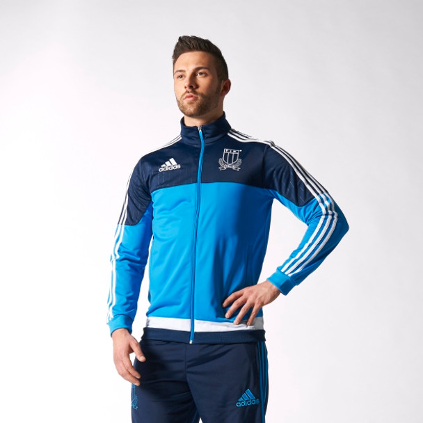 ADIDAS Italia rugby polyester jacket [blue]
