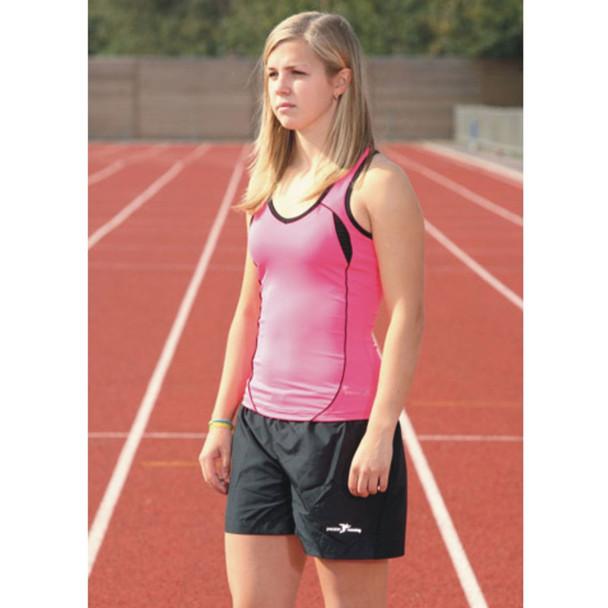 PRECISION ladies running vest [pink/black]