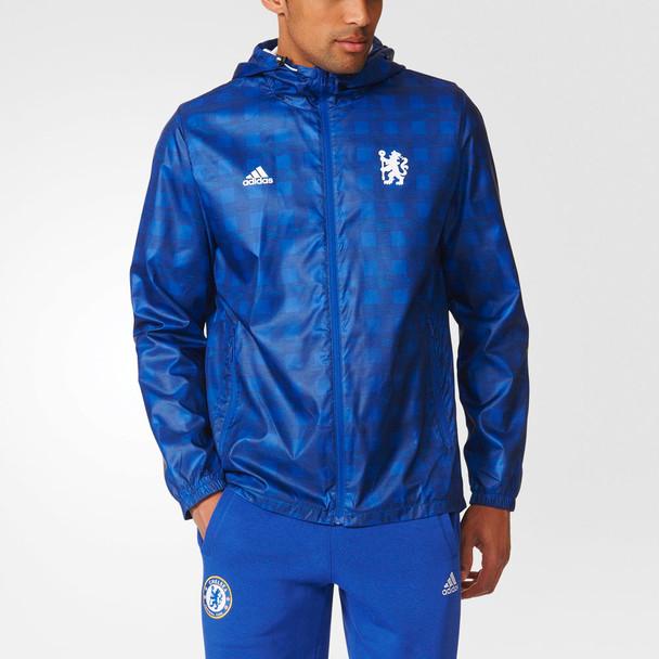 ADIDAS chelsea football windbreaker [royal blue]