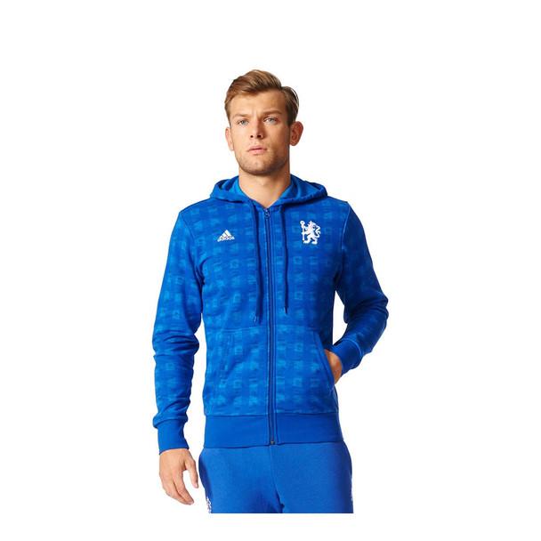 ADIDAS chelsea full zip hoody football [royal blue]