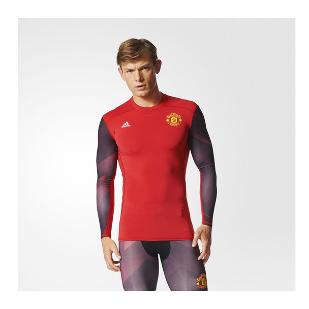 ADIDAS manchester united techfit pre-match jersey [red]